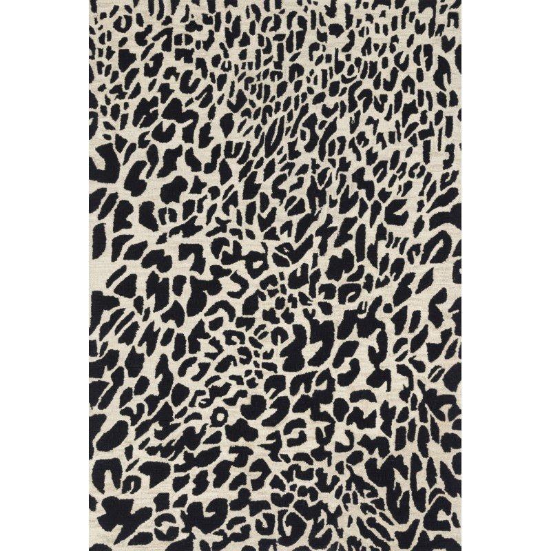 "Loloi Masai MAS-02 Contemporary Hooked 2' 3"" x 3' 9"" Rectangle Rug in Black and Ivory (MASAMAS-02BLIV2339)"
