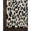 "Loloi Masai MAS-02 Contemporary Hooked 9' 3"" x 13' Rectangle Rug in Black and Ivory (MASAMAS-02BLIV93D0)"
