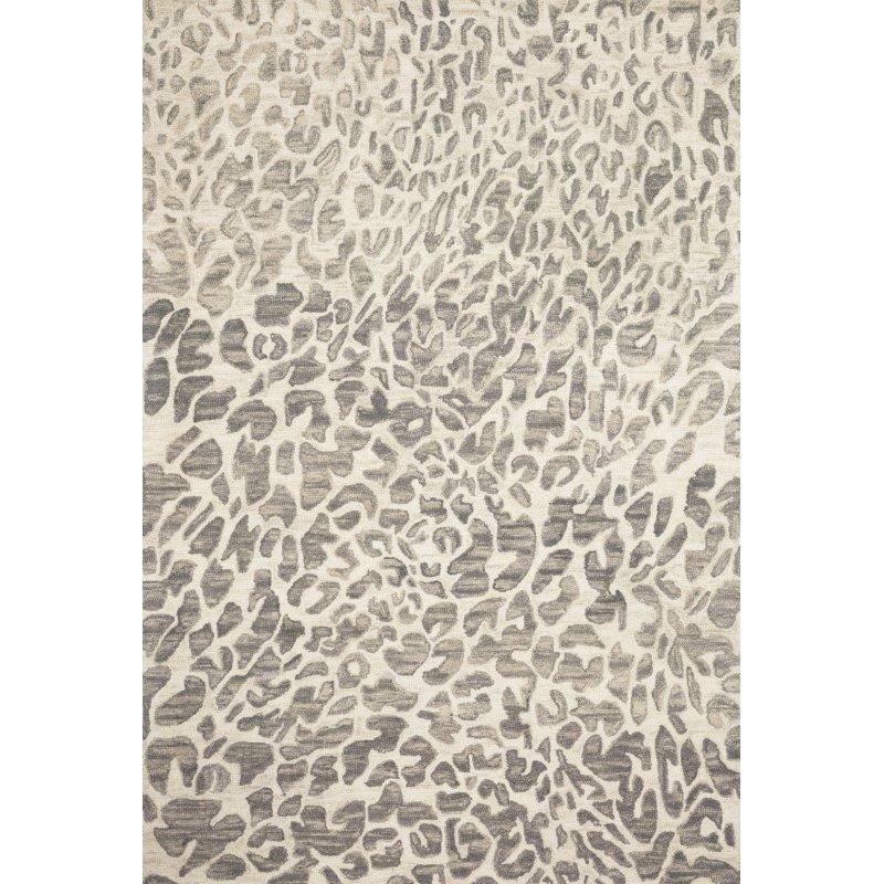 "Loloi Masai MAS-02 Contemporary Hooked 9' 3"" x 13' Rectangle Rug in Grey and Ivory (MASAMAS-02GYIV93D0)"