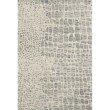 "Loloi Masai MAS-03 Contemporary Hooked 1' 6"" x 1' 6"" Sample Square Rug in Silver Grey and Ivory (MASAMAS-03SYIV160S)"