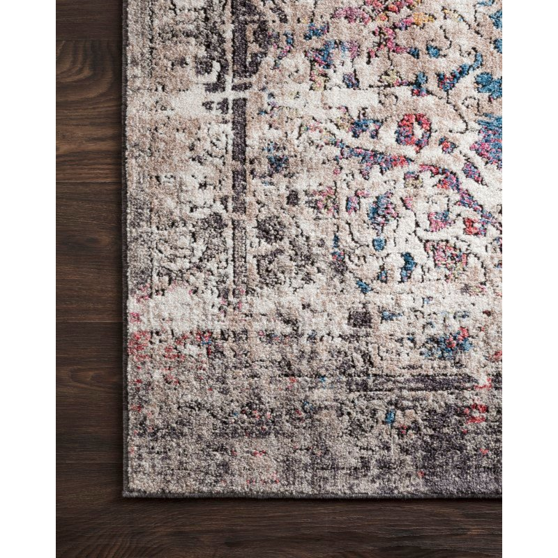 "Loloi Medusa MED-02 Contemporary Power Loomed 6' x 8' 8"" Rectangle Rug in Granite and Multi (MEDUMED-02GNML6088)"