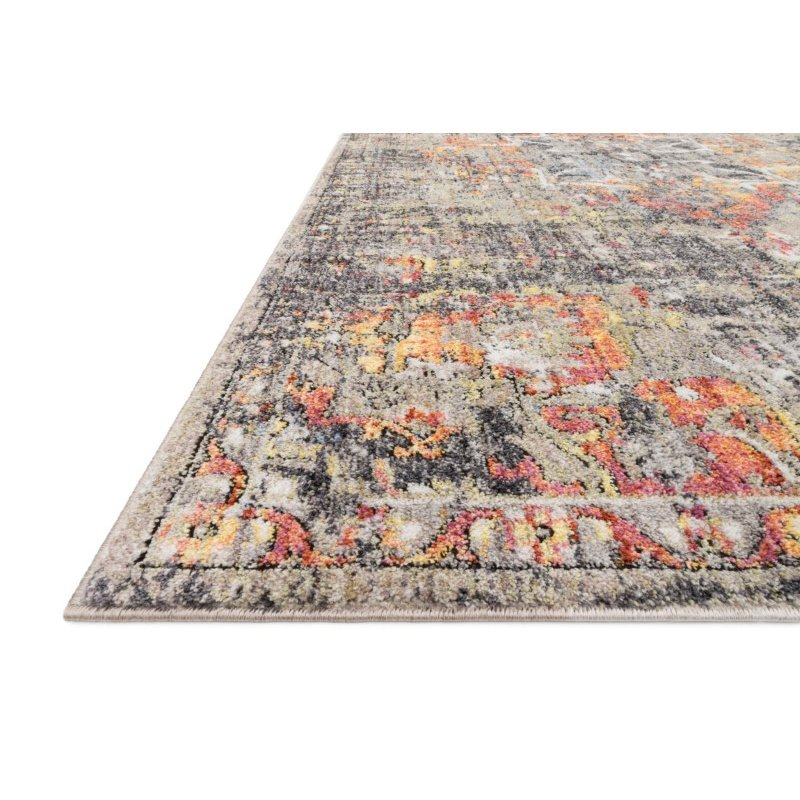 """Loloi Medusa MED-03 Contemporary Power Loomed 7' 10"""" x 10' 6"""" Rectangle Rug in Taupe and Sunset (MEDUMED-03TASS7AA6)"""