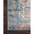 "Loloi Medusa MED-04 Contemporary Power Loomed 6' x 8' 8"" Rectangle Rug in Blue and Multi (MEDUMED-04BBML6088)"