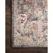 """Loloi Medusa MED-06 Contemporary Power Loomed 2' 4"""" x 10' Runner Rug in Charcoal and Fiesta (MEDUMED-06CCFD24A0)"""