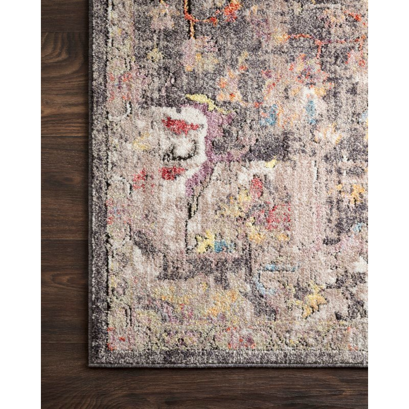 """Loloi Medusa MED-06 Contemporary Power Loomed 2' 4"""" x 4' Rectangle Rug in Charcoal and Fiesta (MEDUMED-06CCFD2440)"""
