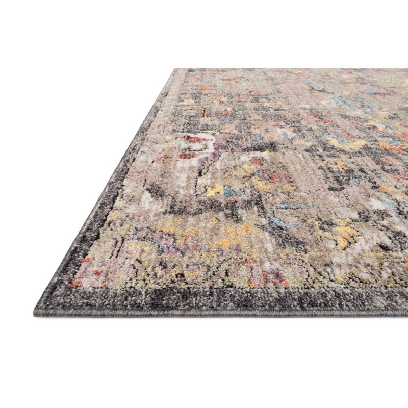 """Loloi Medusa MED-06 Contemporary Power Loomed 9' 3"""" x 13' 3"""" Rectangle Rug in Charcoal and Fiesta (MEDUMED-06CCFD93D3)"""