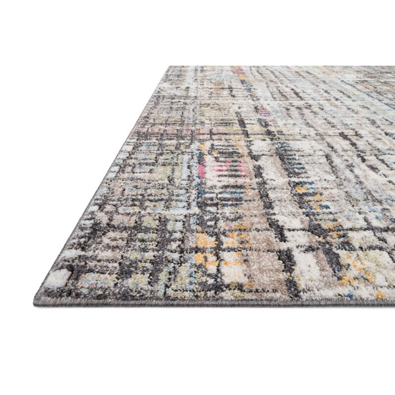 "Loloi Medusa MED-08 Contemporary Power Loomed 2' 4"" x 10' Runner Rug in Charcoal and Multi (MEDUMED-08CCML24A0)"