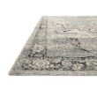 """Loloi Mika MIK-01 Indoor/Outdoor Power Loomed 1' 6"""" x 1' 6"""" Sample Swatch Rug in Grey and Blue (MIKAMIK-01GYBB160S)"""