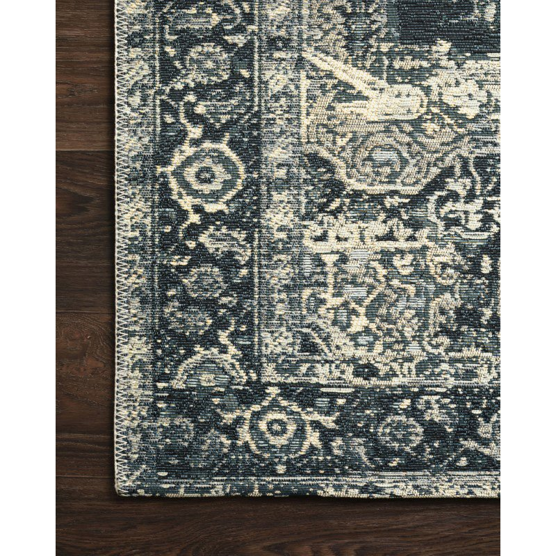 "Loloi Mika MIK-01 Indoor/Outdoor Power Loomed 7' 10"" x 11' 2"" Rectangle Rug in Dk Blue (MIKAMIK-01XDXD7AB2)"