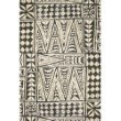"""Loloi Mika MIK-03 Indoor/Outdoor Power Loomed 10' 6"""" x 13' 9"""" Rectangle Rug in Ivory and Black (MIKAMIK-03IVBLA6D9)"""