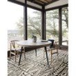 "Loloi Mika MIK-03 Indoor/Outdoor Power Loomed 6' 7"" x 9' 4"" Rectangle Rug in Ivory and Black (MIKAMIK-03IVBL6794)"