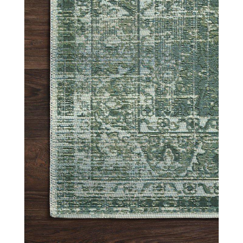 "Loloi Mika MIK-06 Indoor/Outdoor Power Loomed 3' 11"" x 5' 11"" Rectangle Rug in Green and Mist (MIKAMIK-06GRMI3B5B)"
