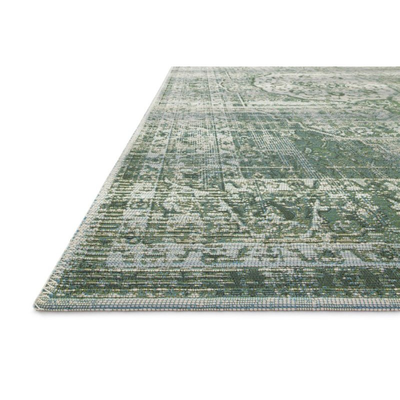 "Loloi Mika MIK-06 Indoor/Outdoor Power Loomed 7' 10"" x 11' 2"" Rectangle Rug in Green and Mist (MIKAMIK-06GRMI7AB2)"
