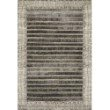 """Loloi Mika MIK-07 Indoor/Outdoor Power Loomed 5' 3"""" x 7' 8"""" Rectangle Rug in Charcoal and Ivory (MIKAMIK-07CCIV5378)"""