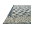 """Loloi Mika MIK-08 Indoor/Outdoor Power Loomed 1' 6"""" x 1' 6"""" Sample Swatch Rug in Blue and Ivory (MIKAMIK-08BBIV160S)"""