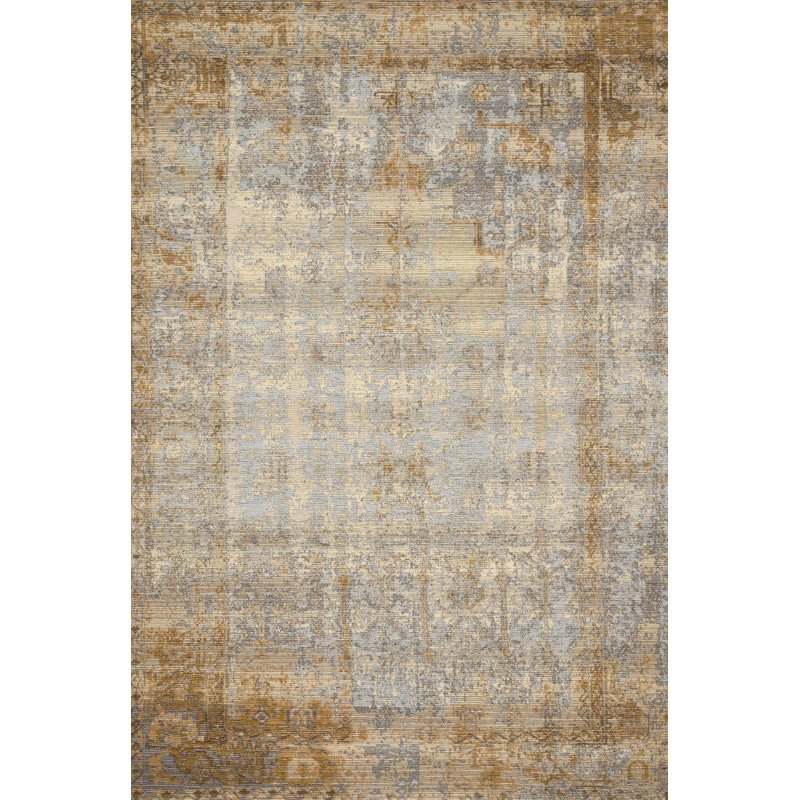 "Loloi Mika MIK-11 Indoor/Outdoor Power Loomed 1' 6"" x 1' 6"" Sample Swatch Rug in Ant. Ivory and Copper (MIKAMIK-11AICP160S)"