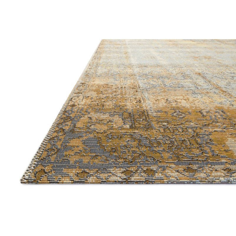 """Loloi Mika MIK-11 Indoor/Outdoor Power Loomed 6' 7"""" x 9' 4"""" Rectangle Rug in Ant. Ivory and Copper (MIKAMIK-11AICP6794)"""
