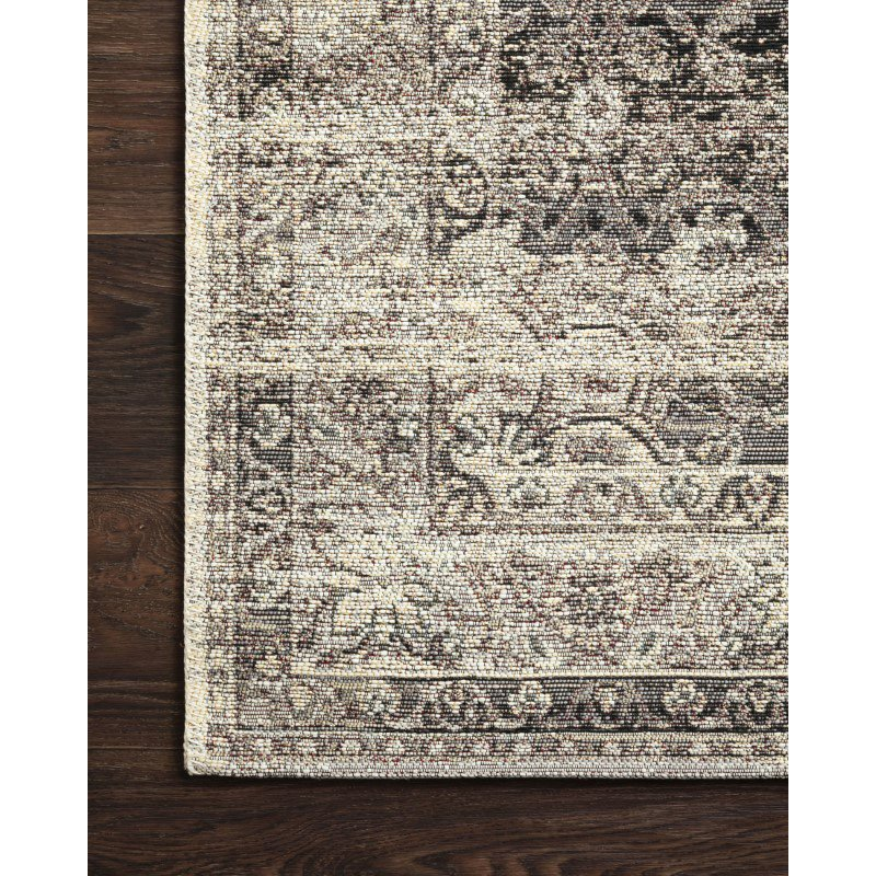 "Loloi Mika MIK-12 Indoor/Outdoor Power Loomed 6' 7"" x 9' 4"" Rectangle Rug in Stone and Ivory (MIKAMIK-12SNIV6794)"