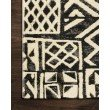 """Loloi Mika MIK-13 Indoor/Outdoor Power Loomed 1' 6"""" x 1' 6"""" Sample Swatch Square Rug in Ivory and Black (MIKAMIK-13IVBL160S)"""
