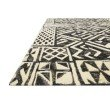 """Loloi Mika MIK-13 Indoor/Outdoor Power Loomed 2' 5"""" x 4' Rectangle Rug in Ivory and Black (MIKAMIK-13IVBL2540)"""