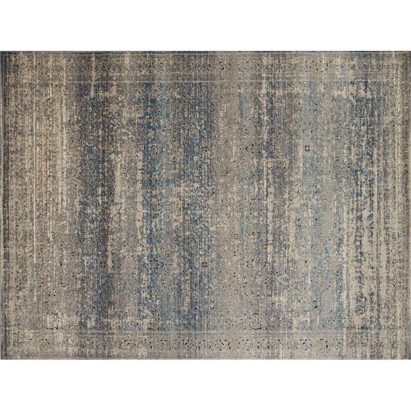 "Loloi Millennium MV-02 7' 10"" x 10' 6"" Rectangle Rug in Grey and Blue (MILLMV-02GYBB7AA6)"