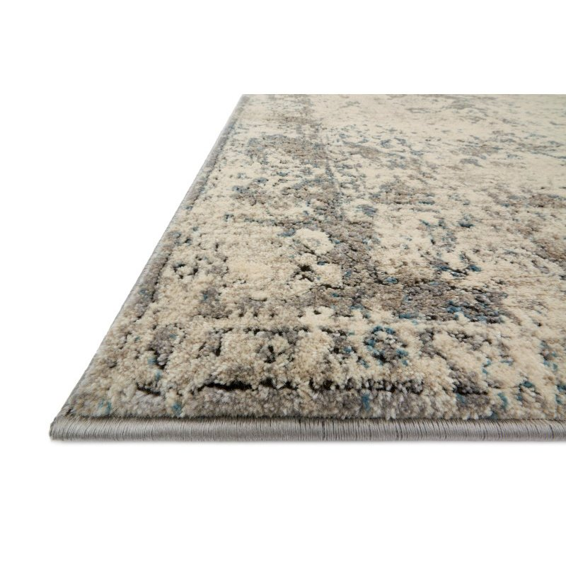 "Loloi Millennium MV-05 6' 7"" x 9' 2"" Rectangle Rug in Ivory and Grey (MILLMV-05IVGY6792)"