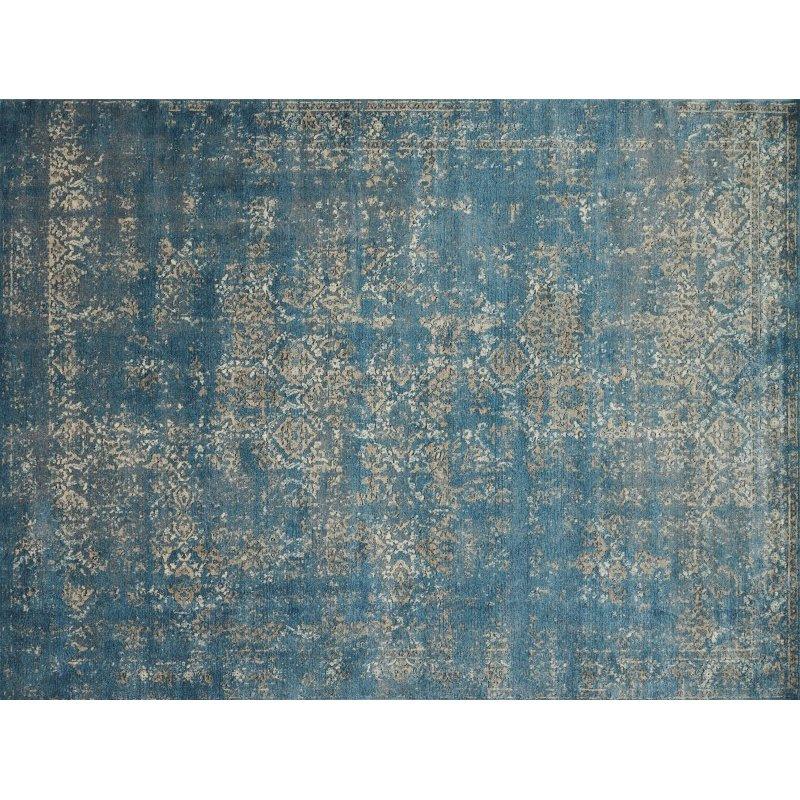 "Loloi Millennium MV-05 7' 7"" Round Rug in Blue and Taupe (MILLMV-05BBTA770R)"