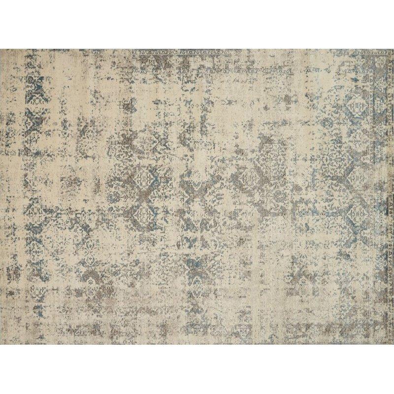 "Loloi Millennium MV-05 9' 6"" x 13' Rectangle Rug in Ivory and Grey (MILLMV-05IVGY96D0)"