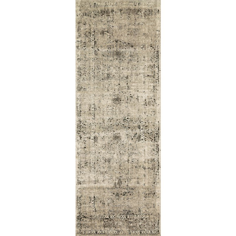 "Loloi Millennium MV-06 2' 8"" x 7' 6"" Runner Rug in Stone and Charcoal (MILLMV-06SNCC2876)"