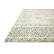 """Loloi Norabel NOR-01 Contemporary Hooked 3' 6"""" x 5' 6"""" Rectangle Rug in Ivory and Slate (NORBNOR-01IVSL3656)"""