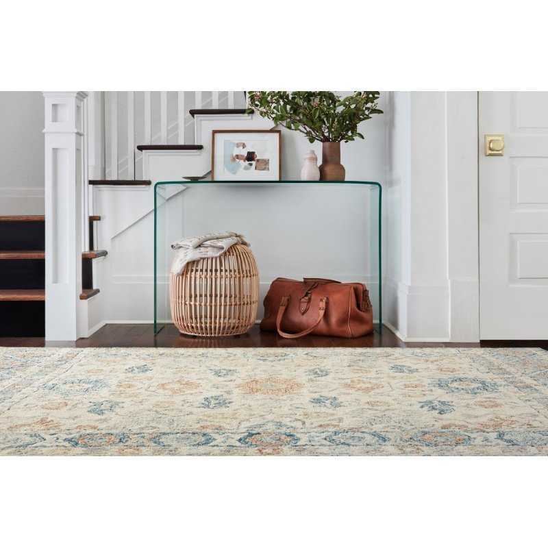 "Loloi Norabel NOR-01 Contemporary Hooked 8' 6"" x 12' Rectangle Rug in Ivory and Multi (NORBNOR-01IVML86C0)"