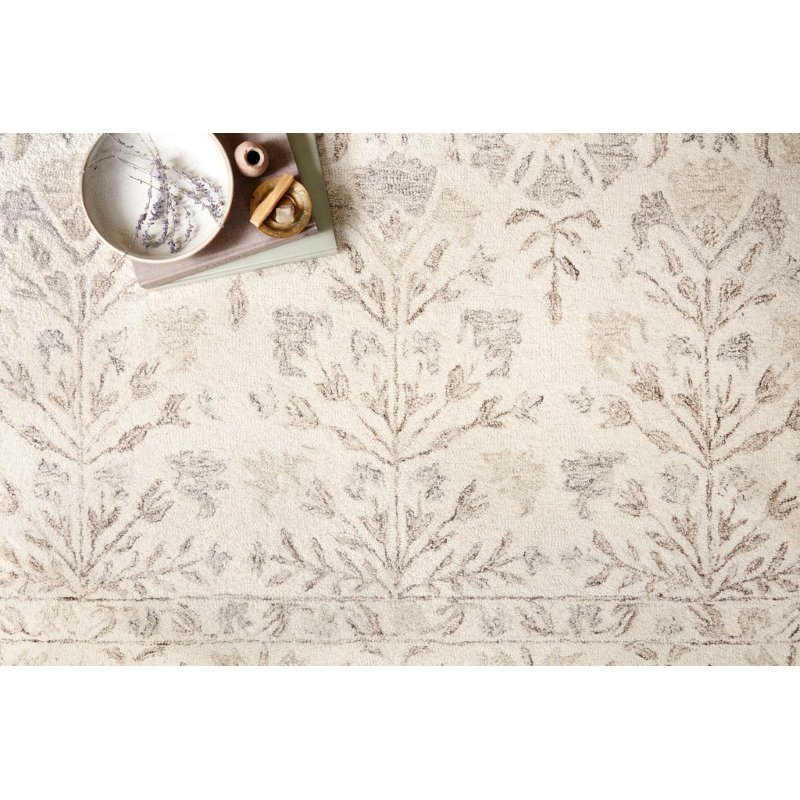 "Loloi Norabel NOR-02 Contemporary Hooked 7' 9"" x 9' 9"" Rectangle Rug in Ivory and Neutral (NORBNOR-02IVNE7999)"