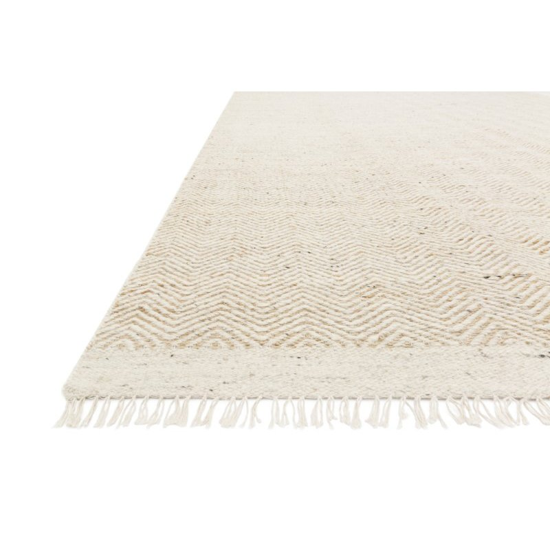 """Loloi Omen OME-01 Contemporary Hand Woven 5' x 7' 6"""" Rectangle Rug in Natural (OMENOME-01NA005076)"""
