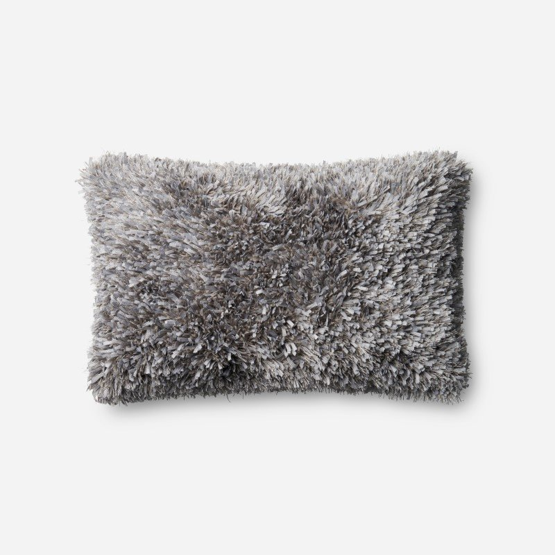 """Loloi P0045 Pillow 13"""" x 21"""" Cover w/ Poly in Grey (PSETP0045GY00PIL5)"""