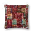 "Loloi P0535 Pillow 22"" x 22"" Cover w/ Down in Red and Multi (DSETP0535REMLPIL3)"