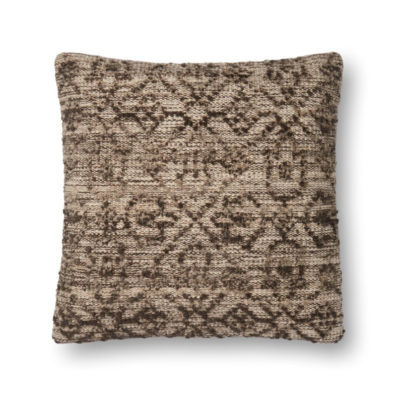 """Loloi P0548 Pillow 22"""" x 22"""" Cover w/ Poly in Natural (PSETP0548NA00PIL3)"""