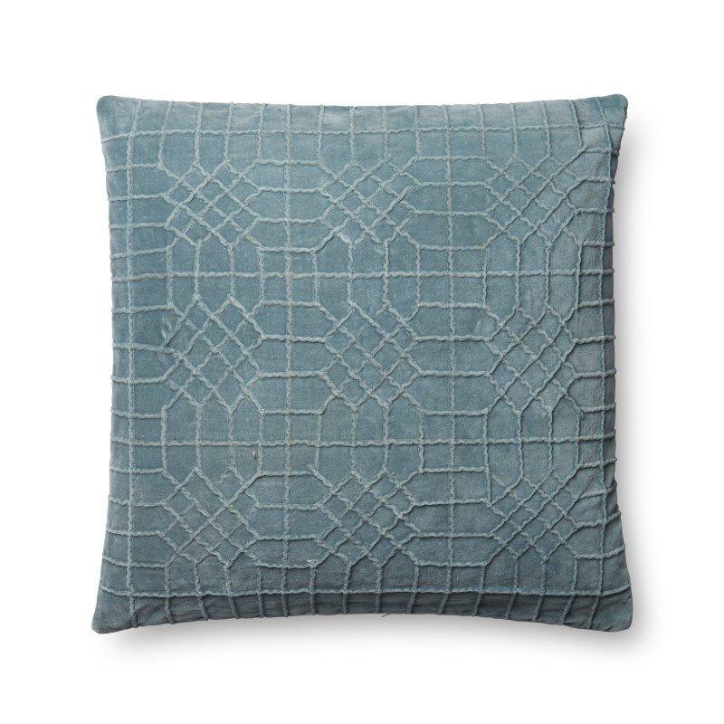 "Loloi P0571 Pillow 22"" x 22"" Cover w/ Down in Lt. Blue (DSETP0571LB00PIL3)"