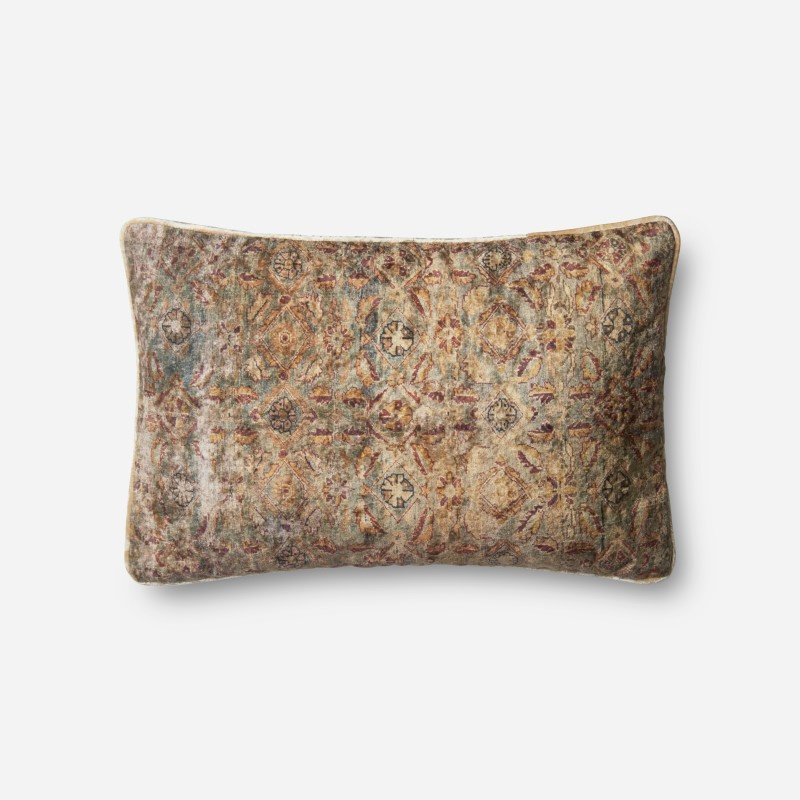 """Loloi P0580 Pillow 13"""" x 21"""" Cover w/ Poly in Multi (PSETP0580ML00PIL5)"""