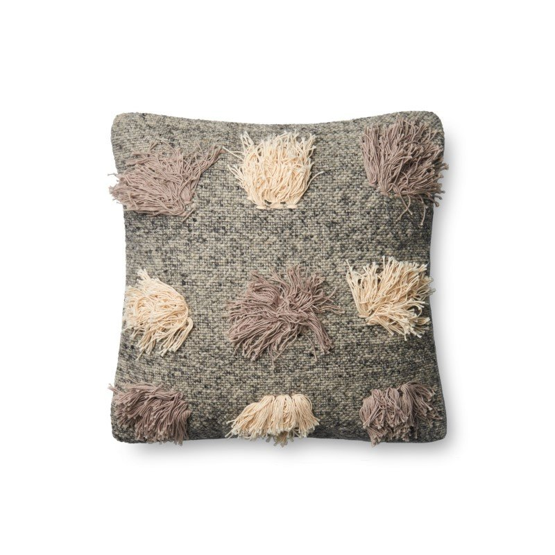"""Loloi P0606 Pillow 18"""" x 18"""" Cover w/ Down in Multi (DSETP0606ML00PIL1)"""