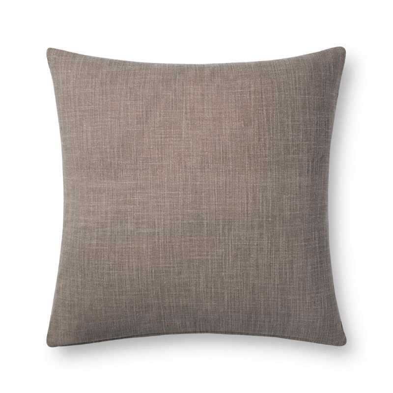 """Loloi P0737 Pillow 22"""" x 22"""" Cover Only in Charcoal and Grey (P024P0737CCGYPIL3)"""