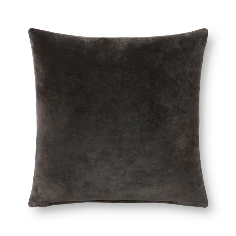 """Loloi P0737 Pillow 22"""" x 22"""" Cover with Poly in Charcoal and Grey (PSETP0737CCGYPIL3)"""
