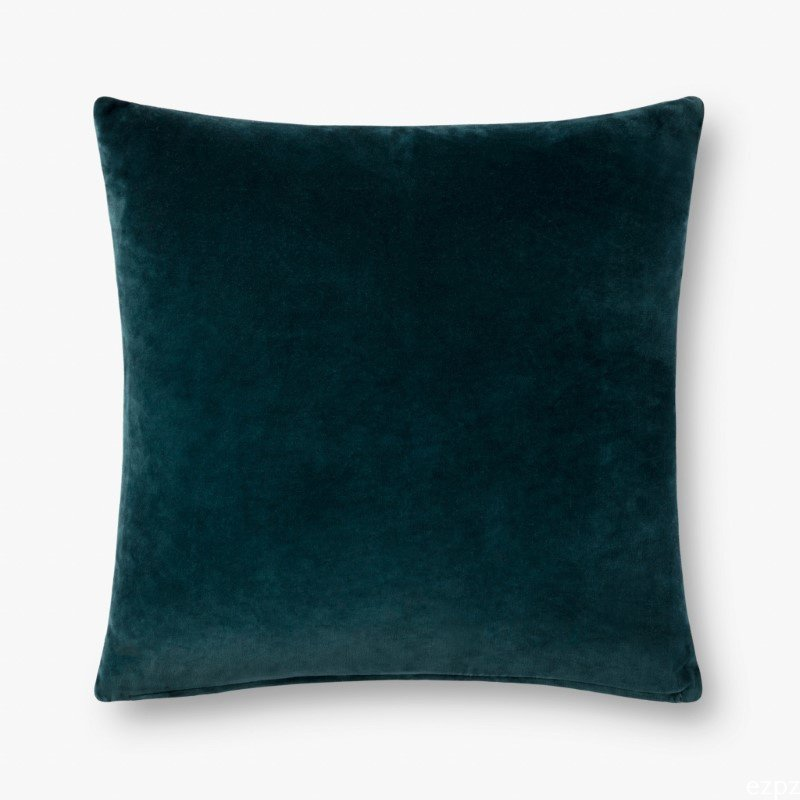"""Loloi P0737 Pillow 22"""" x 22"""" Cover with Poly in Lagoon and Lt. Blue (PSETP0737LJLBPIL3)"""