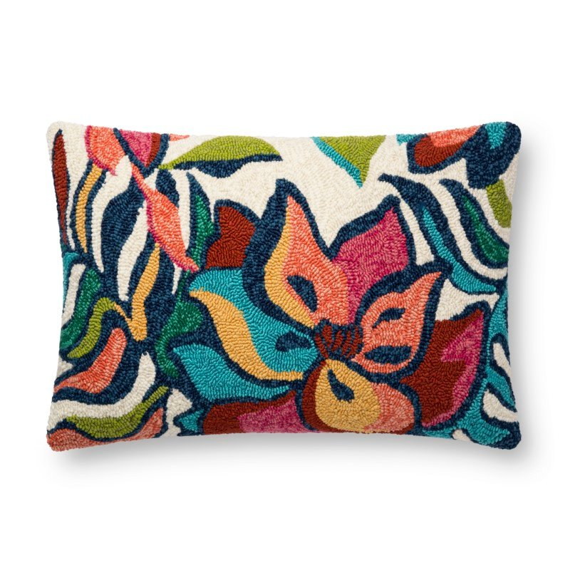"""Loloi P0749 Indoor/Outdoor Pillow 16"""" x 26"""" Cover Only in Multi (P078P0749ML00PI15)"""