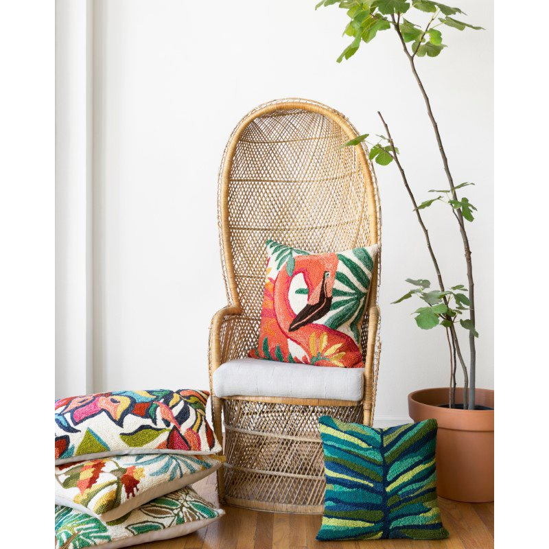 """Loloi P0753 Indoor/Outdoor Pillow 22"""" x 22"""" Cover Only in Multi (P078P0753ML00PIL3)"""