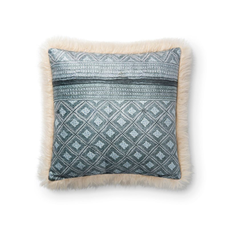 """Loloi P0789 Pillow 18"""" x 18"""" Cover Only in Multi and Ivory (P203P0789MLIVPIL1)"""