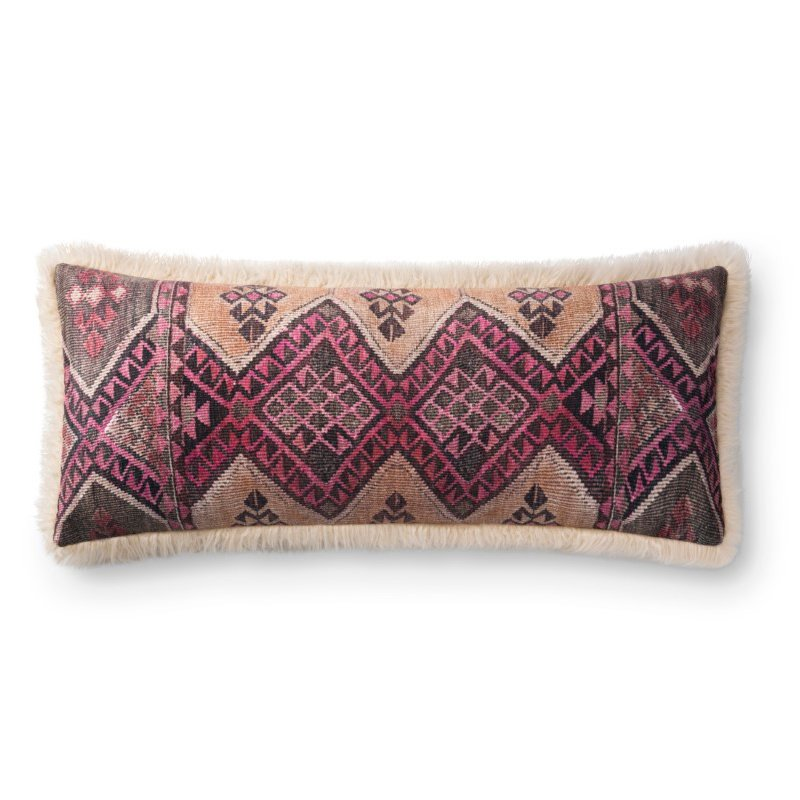 "Loloi P0796 Pillow 13"" x 35"" Cover Only in Multi and Ivory (P203P0796MLIVPI29)"