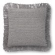 """Loloi P0806 Pillow 22"""" x 22"""" Cover Only in Grey (P098P0806GY00PIL3)"""