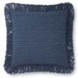 "Loloi P0806 Pillow 22"" x 22"" Cover with Poly in Blue (PSETP0806BB00PIL3)"