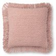 """Loloi P0806 Pillow 22"""" x 22"""" Cover with Poly in Pink (PSETP0806PI00PIL3)"""