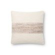 """Loloi P0809 Pillow 18"""" x 18"""" Cover with Down in Blush and Multi (DSETP0809BHMLPIL1)"""